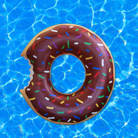 Gigantic Chocolate Donut Pool Float