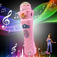 Wireless LED Microphone toys for Girls Mic Karaoke Singing Kids Gift Musical Toys Child musical instruments  FREE SHIPPING