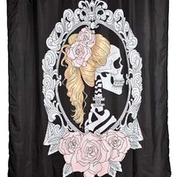 Cameo Skull Shower Curtain by Too Fast Clothing