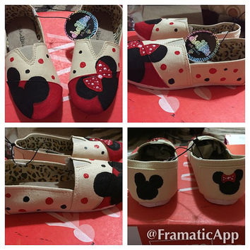 Disney Themed Canvas Slip On Shoes