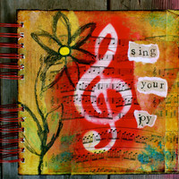 "Sing Your Joy - One of a Kind 8""x8"" Lined Paper Journal, Notebook, Diary, Stationary, Songwriting, Music"