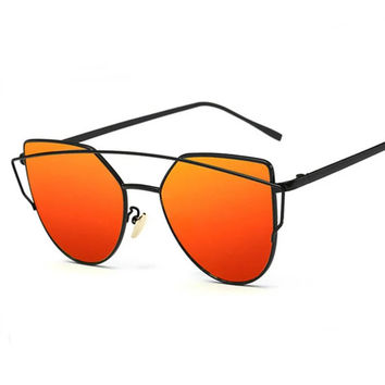 12 Colors Stylish Flat Women Tint Sunglasses
