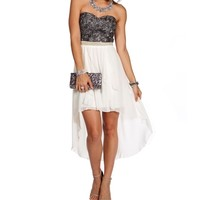 Bellie Charcoal Homecoming Dress