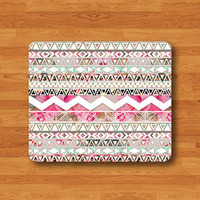 ART AZTEC Floral Abstract Mouse Pad Mat Geometric Flower BG MousePad Natural Desk Deco Vintage Computer Pad Personalized Gift Ecofriendly