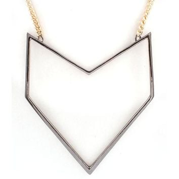 Geometric Long Arrow Necklace