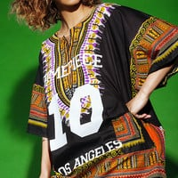 Dimepiece Black Dashiki Dress