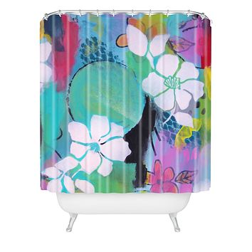 Natalie Baca Peace Love Aloha Shower Curtain