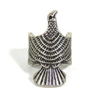 Hawk Ring Size 5.5 Egyptian Tribal Falcon Eagle RD03 Silver Bird Fashion Jewelry