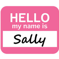 Sally Hello My Name Is Mouse Pad