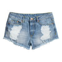 H&M - Distressed Denim Shorts