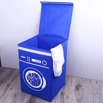 Large Fabric Folding Storage Box Dirty Clothes Barrel Non-woven Fabrics Laundry Basket