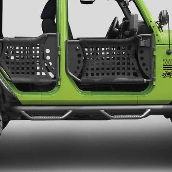 Jeep® Side Bumpers - N-FAB - NF J0746 - N-Fab Nerf-Steps for 07-up Jeep® Wrangler & Wrangler Unlimited JK and other Jeep Wrangler Parts, Jeep Accessories and Soft Tops by FORTEC