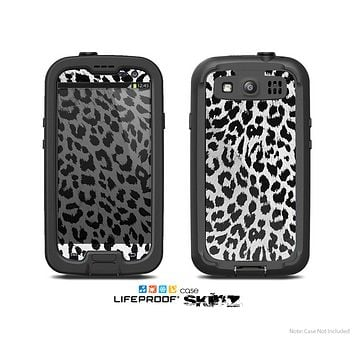 The Vector Leopard Animal Print Skin For The Samsung Galaxy S3 LifeProof Case