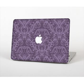 The Dark Purple Delicate Pattern Skin Set for the Apple MacBook Pro 13""