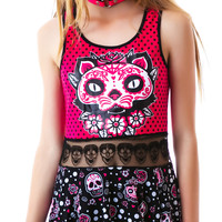 Too Fast Muerta Cat Bambi Dress Multi
