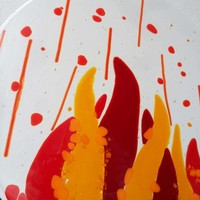 Fire Glass Art *free shipping* from C & J Designs