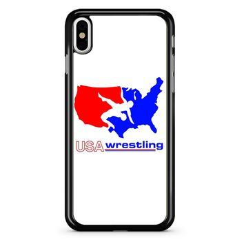 Team Usa Wrestling iPhone X Case