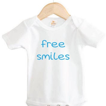 Baby Onesuit // Free Smiles Onesuit // Baby Clothing // Infant apparel