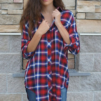 Red Flannel Tunic