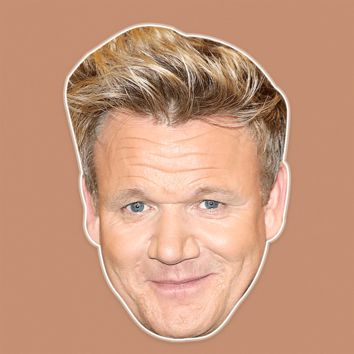 Happy Gordon Ramsay Mask - Perfect for Halloween, Costume Party Mask, Masquerades, Parties, Festivals, Concerts - Jumbo Size Waterproof Laminated Mask