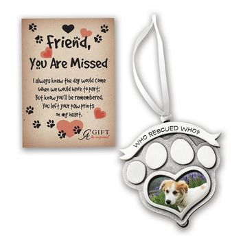 Who Rescued Who Photo Frame Ornament