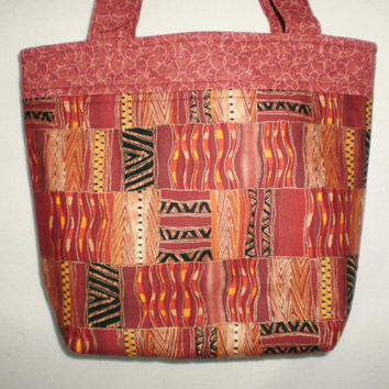 Tote Bag Handcrafted Tablet or Bible Bag Travel Tote Knitting Crocheting Crafts African Print Shopping Bag