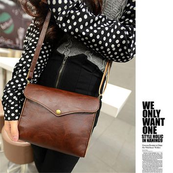 Hot Sale Hot Womens PU Leather Shoulder Bag Satchel Handbag Tote Hobo Messenger Crossbody Bags Vintage Retro Camera Phone Purse