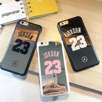 CREYUG7 nba player star Michael Jordan 23 fundas PC hard mirror Phone Cases for iPhone 5 5s 6