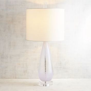 Clouds Art Glass Table Lamp
