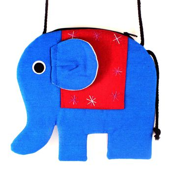 Elephant Shaped Animal Shoulder Bag in Bright Blue | DOTOLY