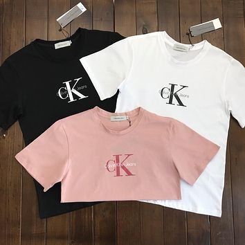 Calvin Klein Jeans Women Men Tee Shirt CK Top  B-MG-FSSH Three Color