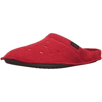 Crocs Mens Classic Textured Lined Mule Slippers