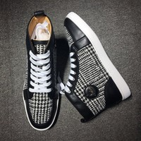 Christian Louboutin CL Mid Style #2126 Sneakers Fashion Shoes Best Deal Online