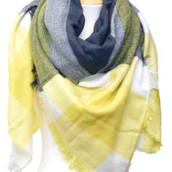 Yellow blanket scarf