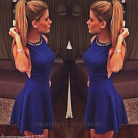 New Fashion Ladies Womens Sexy Sleeveless Evening Cocktail Party Clubwear Dress