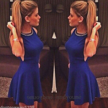 Hot Fashion Ladies Womens Sexy Sleeveless Evening Cocktail Party Clubwear Dress
