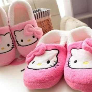 New Winner Hello Kitty Shoes Women thin light home slippers home Plush shoes yey-9101