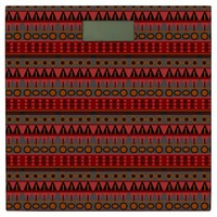 Aztec Warm Red Orange Retro Tribal Ethnic Native Bathroom Scale