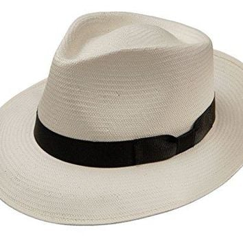 Stetson Reward Shantung Straw Hat (Small, Natural)