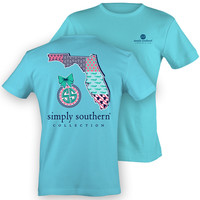 Simply Southern Florida Chevron Preppy State Pattern Girlie Bright T Shirt