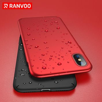 RANVOO Case for iPhone X Ultra Thin Hard PC Phone Cases Micro Matte Plating Process No Fingerprint Phone Cover