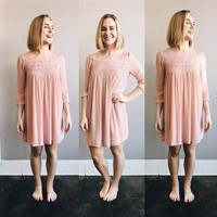 A Blush Embroidered Dress