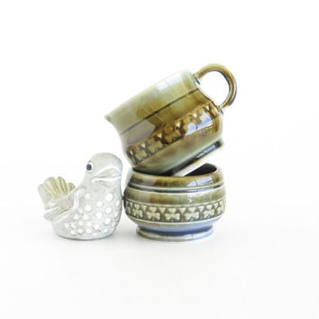 WADE Sweet Shamrocks Petite Cream and Sugar Set IRELAND