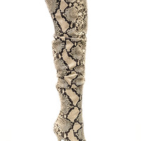 VIPER ROOM SNAKE THIGH HIGH BOOT