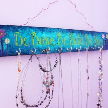 Jewelry Storage, Hanging Necklace Display, Jewelry Organizer, Personalized Necklace Holder, custom jewelry rack