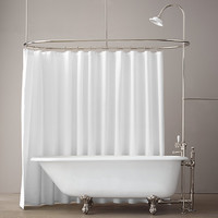 """68"""" Classic Victorian Clawfoot Tub With Tubfill And Shower Converter"""