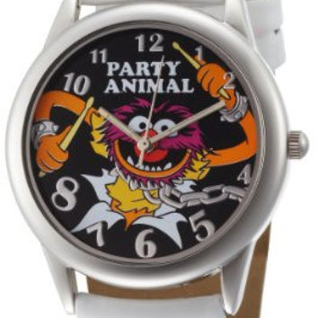 Muppets Women's MU1008 Animal Black Dial White Strap Watch