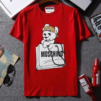 Moschino Woman Men Fashion Casual Shirt Top Tee-3