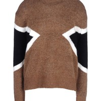 Neil Barrett Graphic Print Crewneck Sweater - Wool Sweaters - ShopBAZAAR