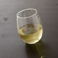 Cincinnati Map Stemless Wine Glass